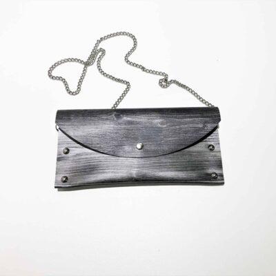 puukuvioinen uniikki laukku